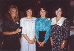 Debb Mauer, Karen Rasmussen Aronson, Margaret Shellenberg Herald and Nancy Neibuhr Parker at the last reunion...20 years